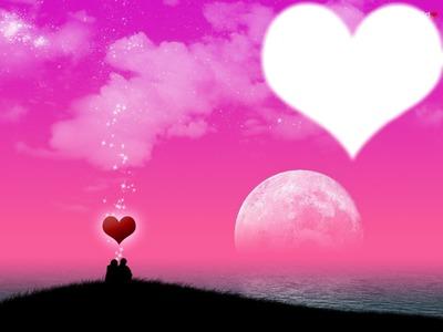cuadro de corazon para los romanticos