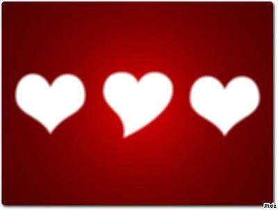 le cadre des 3 coeur