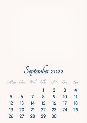 Calendar September 2022.Photo Montage September 2022 2019 To 2046 Vip Calendar Basic Color English Pixiz