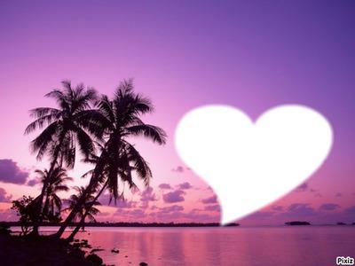 coucher de soleil sur mer