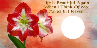 LIFE IS BEAUTIFUL AGAIN WHEN I THINK OF MY ANGEL