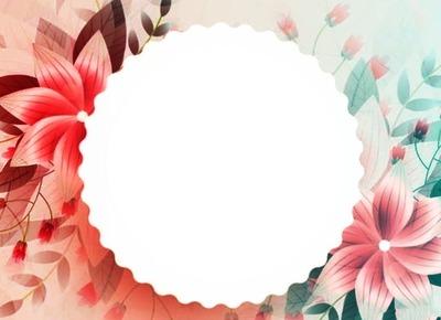 рамочка со цветами