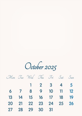 October 2025 // 2019 to 2046 // VIP Calendar // Basic Color // English