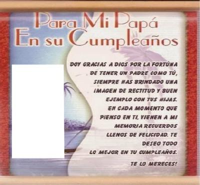 Fotomontage Feliz Cumpleaños Papá Pixiz