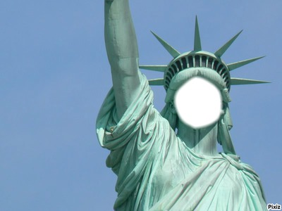 Visage de la statue de la liberté