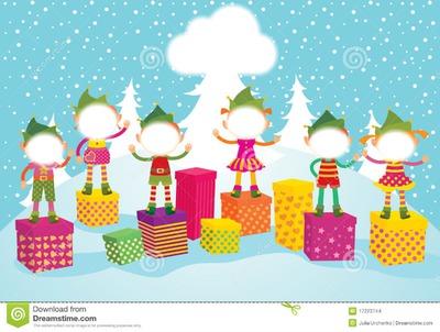 Montajes De Felicitaciones De Navidad.Montaje Fotografico Duendes De Navidad Pixiz