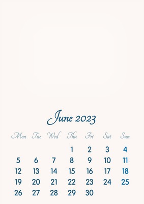 June 2023 // 2019 to 2046 // VIP Calendar // Basic Color // English