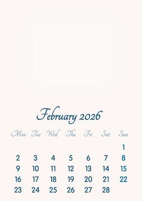 February 2026 // 2019 to 2046 // VIP Calendar // Basic Color // English
