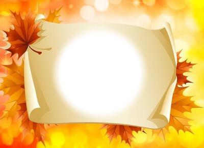 Parchemin-feuilles d'automne