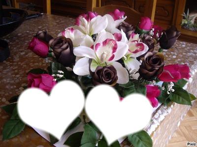 Fotomontage Fleur D Amour Pixiz