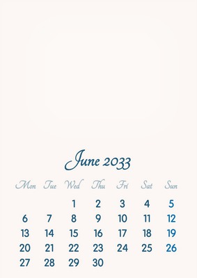 June 2033 // 2019 to 2046 // VIP Calendar // Basic Color // English