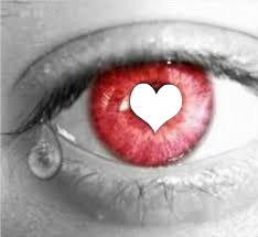 yeux qui pleure coeur