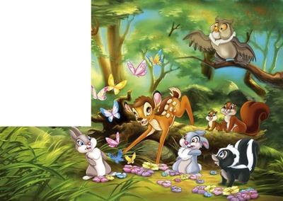 1 cadre 1 photo bambi et ses amis