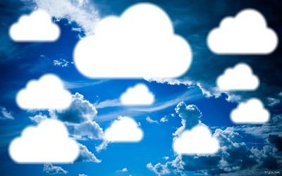 ciel nuageux bleu