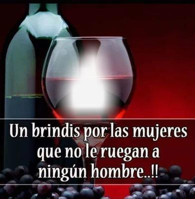Copa de vino,con texto