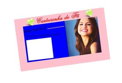 Selena Gomez carteirinha de fã