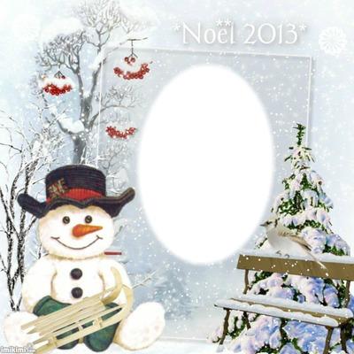 cadre bonhomne de neige*