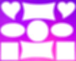 9 formes fond violet