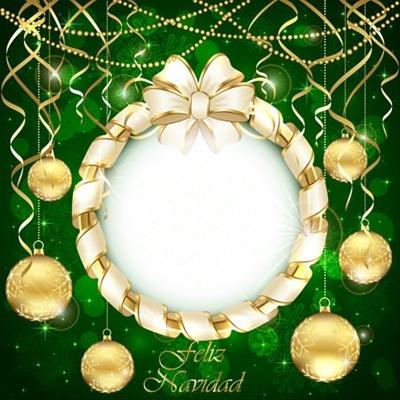 Cc esferas de navidad doradas