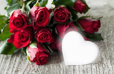 rose et coeur 2