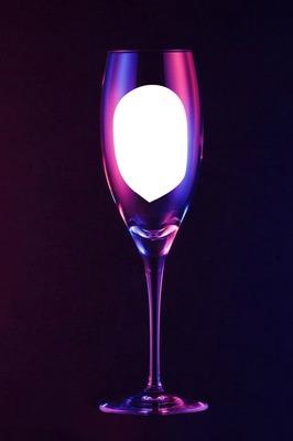 purple wine glass black background