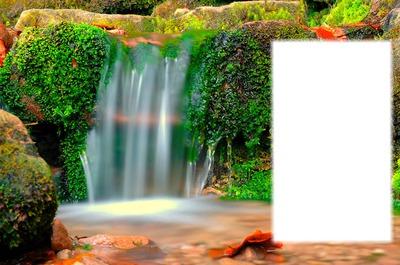 chute d'eau en automne