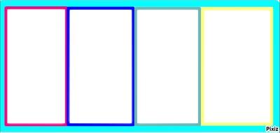 Cadre 4 couleurs 4 photos