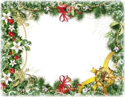 Cadre branches sapin de Noël