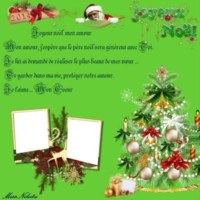 фотомонтаж Joyeux Noël Pour Son Amoureux Pixiz