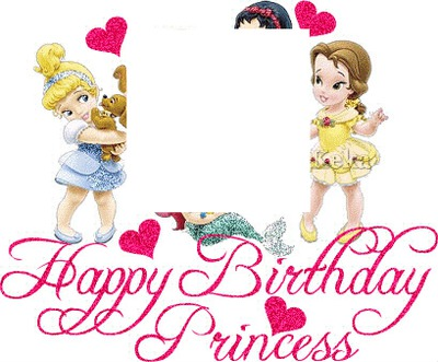 Photo montage princess birthday - Pixiz