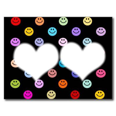 2 coeurs accompagné de smiley