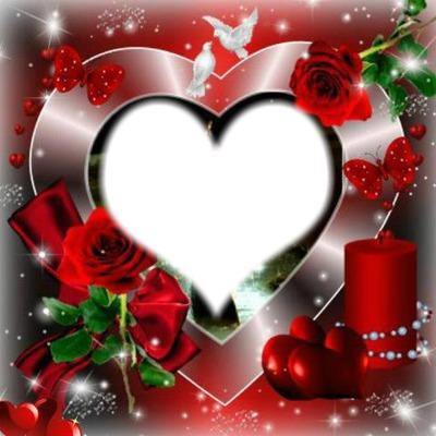 Montage photo coeur de la st valentin pixiz - Coeur st valentin ...