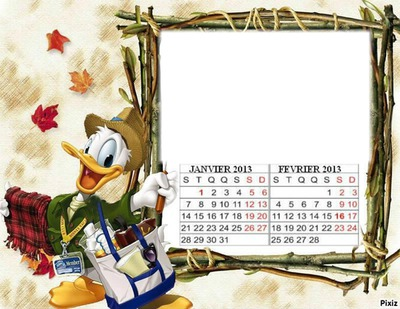 CALENDRIER JANVIER FEVRIER 2013
