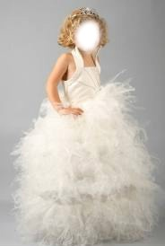 petite fille robe blanche froufrou