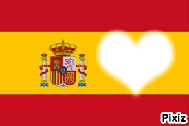 Visage dans le drapeau de l'Espagne