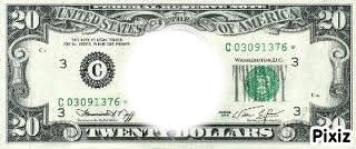 Billet 20 dollars