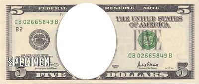 Billet 5 dollars us