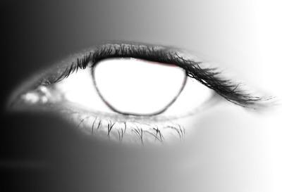 noir et blanc d'oeil