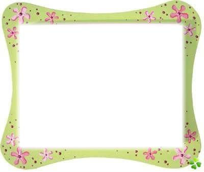 cadre fleurs fillette