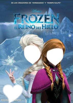 las hermanas anne y elsa de frozen el reino del hielo