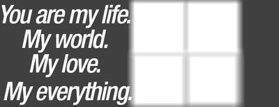 my life my love my world
