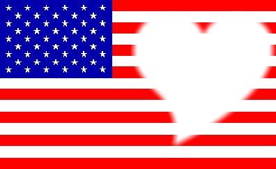coeur avec drapeau américain <3