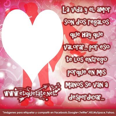 фотомонтаж Marco De Amor Con Frases Pixiz