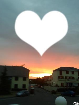 coucher de soleil coeur <3