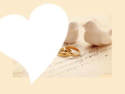 mariage hirondelle et alliances