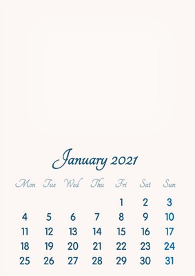 January 2021 // 2019 to 2046 // VIP Calendar // Basic Color // English