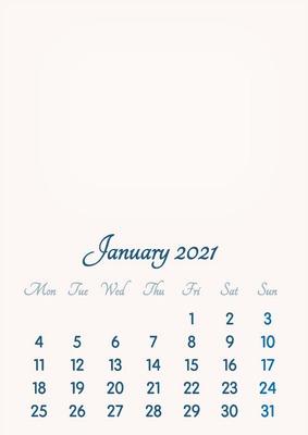 Montage photo January 2021 // 2019 to 2046 // VIP Calendar