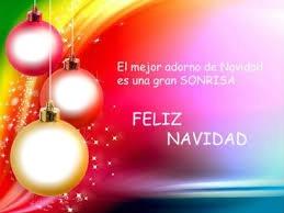 una sonrisa feliz muy feliz navidad