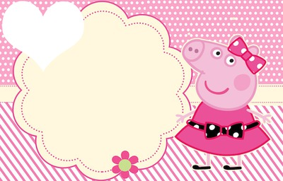 Photo Montage Convite Peppa Pig