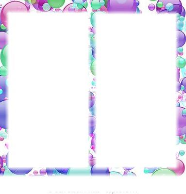 2 cadres dans des bulles pastel